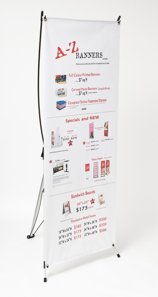 Banner Stands X Frame Vancouver - X Stands Vancouver | A-Z Banners