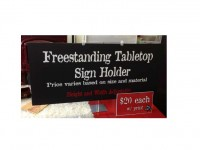 Table Top Sign Holder (Full Colour)