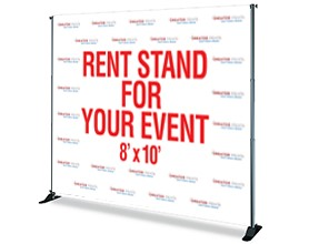 refurbished banner stands, recycled banner stands, used banner stands, used advertising flags