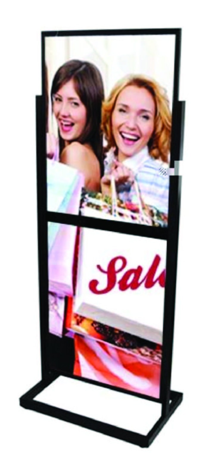Double Floor Sign Stand