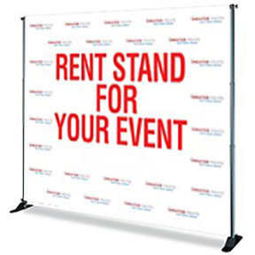 refurbished banner stands vancouver, banner stand rentals vancouver